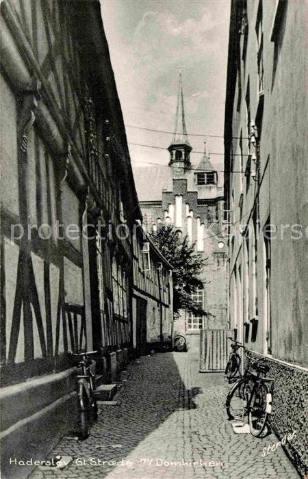 AK / Ansichtskarte Haderslev Hadersleben Gl Stroede met Domkirken Gasse Kirche Kat. Haderslev