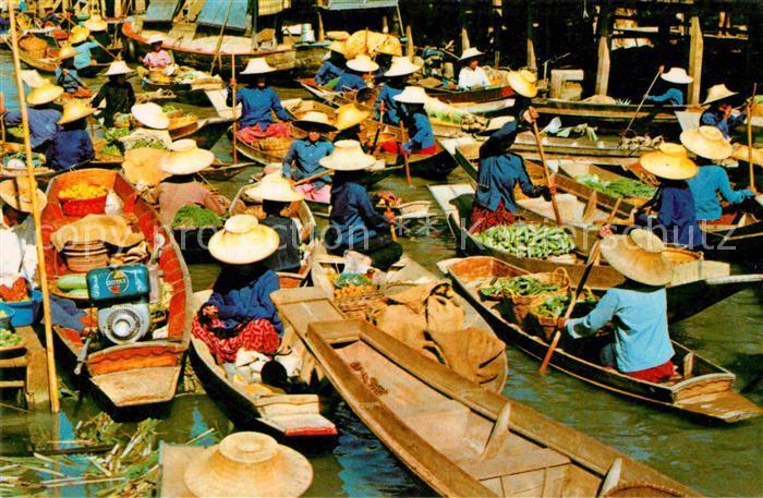AK / Ansichtskarte Thailand Schwimmender Markt Kat. Thailand