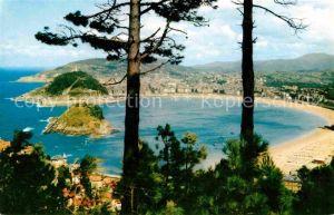 AK / Ansichtskarte San Sebastian Guipuzcoa Blick vom Monte Igueldo