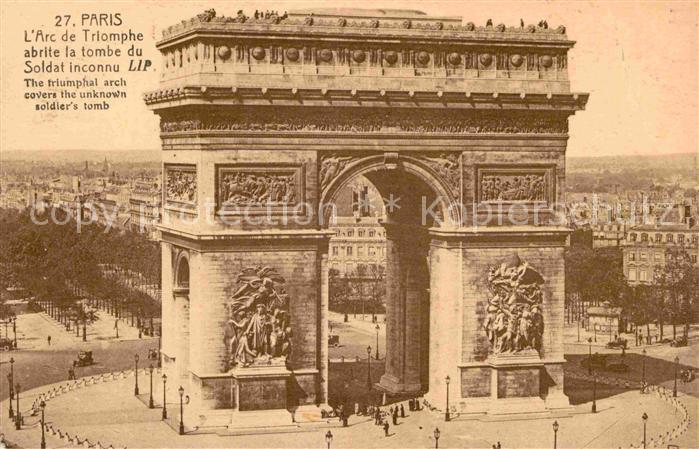 AK / Ansichtskarte Paris L`Arc de Triomphe Kat. Paris