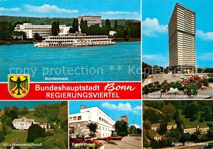 AK / Ansichtskarte Bonn Rhein Bundeshaus Abgeordneten Hochhaus Villa Hammerschmidt Palais Schaumburg Kat. Bonn