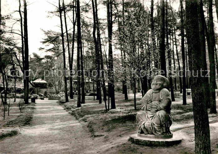AK / Ansichtskarte Worpswede Lachender Buddha von Prof. Bernhard Hoetger Kat. Worpswede