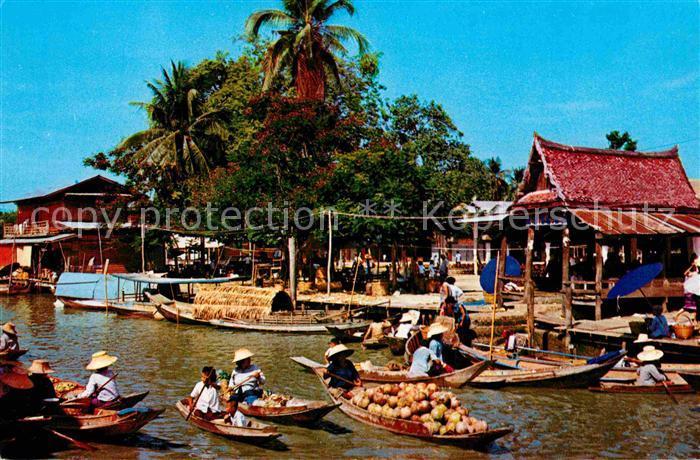AK / Ansichtskarte Bangkok Floating Market on Thonburi Kat. Bangkok