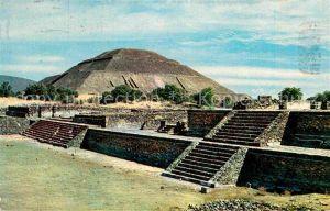 AK / Ansichtskarte Teotihuacan Piramide del Sol Praehistorische Ruinenstadt Kat. San Juan Teotihuacan Mexiko