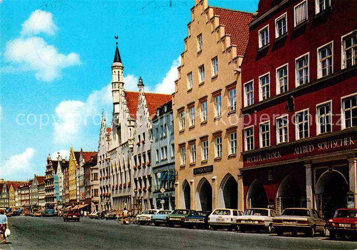 AK / Ansichtskarte Landshut Isar Altstadt und Rathaus Kat. Landshut