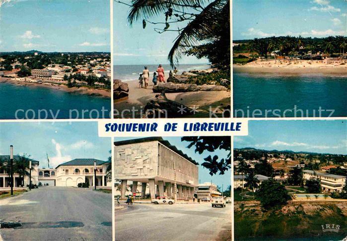 AK / Ansichtskarte Libreville Gabon Fliegeraufnahme Plage Tropicana Hotel du Roi Denis Kat. Libreville