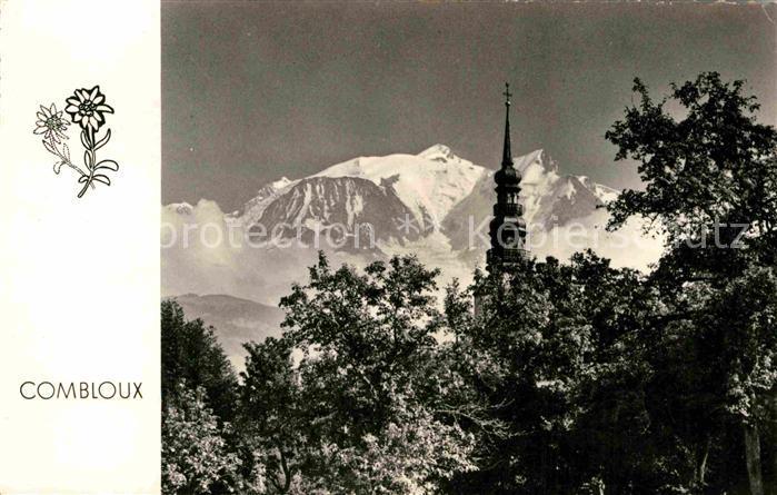 AK / Ansichtskarte Combloux Le clocher et le Mont Blanc  Kat. Combloux