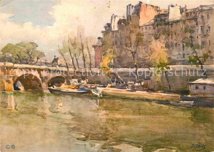 AK / Ansichtskarte Paris Pont Neuf Kuenstlerkarte Kat. Paris
