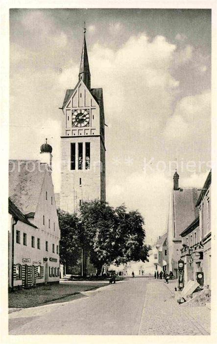 AK / Ansichtskarte Neustadt Donau Kirche Ortsansicht Kat. Neustadt a.d.Donau