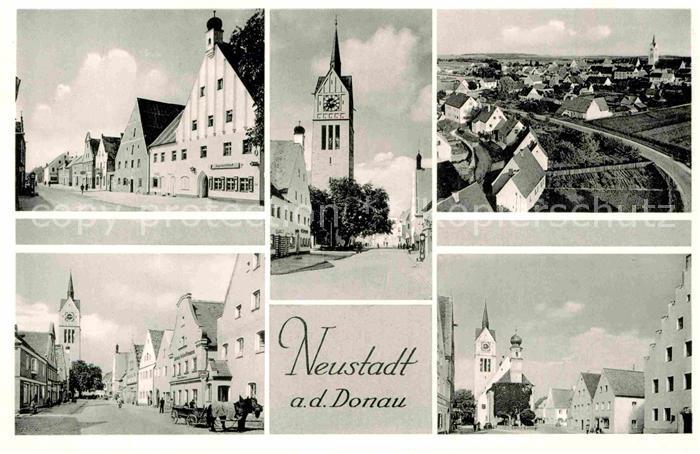 AK / Ansichtskarte Neustadt Donau Hauptstrasse Kirche  Kat. Neustadt a.d.Donau