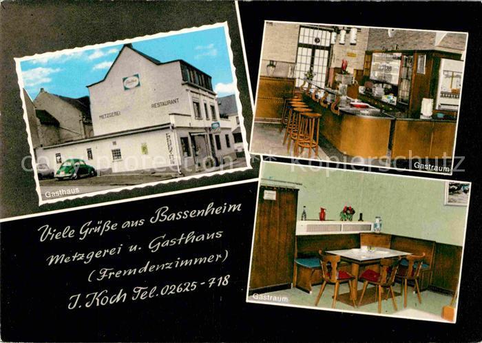 AK / Ansichtskarte Bassenheim Gasthaus Gastraum Kat. Bassenheim