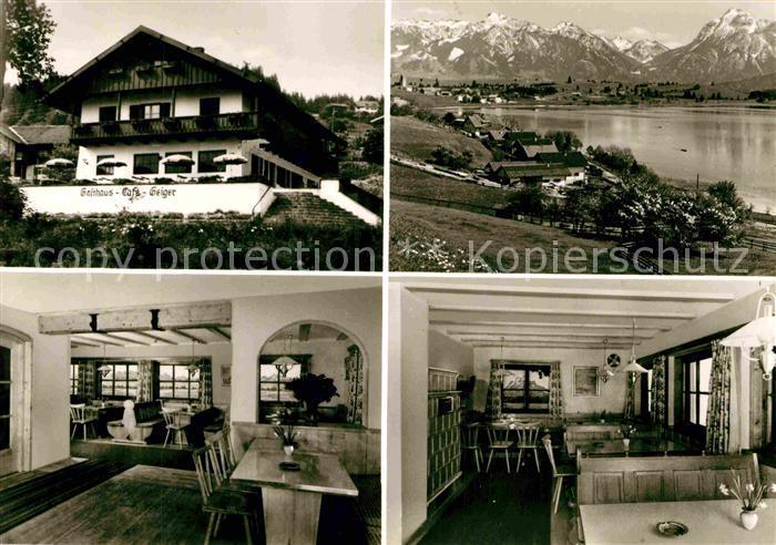 AK / Ansichtskarte Hopfen See Weinstube Pension Haus Geiger Kat. Fuessen