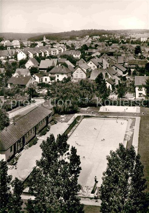 AK / Ansichtskarte Langensteinbach Karlsbad Schwimmbad Kat. Karlsbad