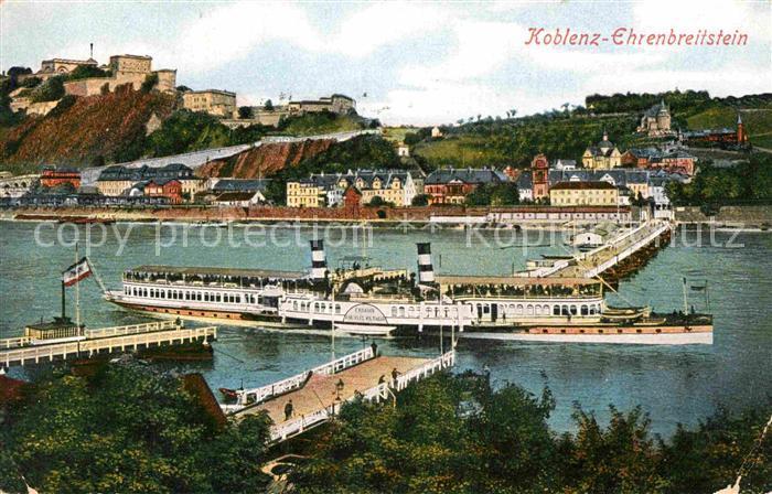 AK / Ansichtskarte Ehrenbreitstein Personenschiff Kaiserin Auguste Victoria Kat. Koblenz