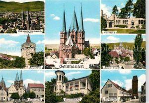 AK / Ansichtskarte Gelnhausen Hexenturm Marienkirche Untermarkt Bergschloesschen Ziegelturm Kinzig Bruecke Kat. Gelnhausen