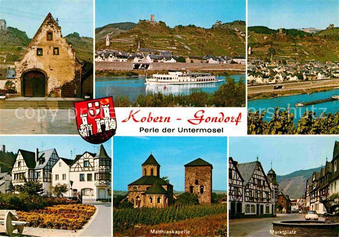 AK / Ansichtskarte Kobern Gondorf Matthiaskapelle Marktplatz Panorama  Kat. Kobern Gondorf