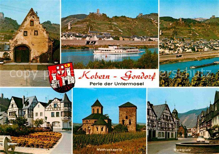 AK / Ansichtskarte Kobern Gondorf Matthiaskapelle Marktplatz Fachwerkhaeuser Panorama  Kat. Kobern Gondorf