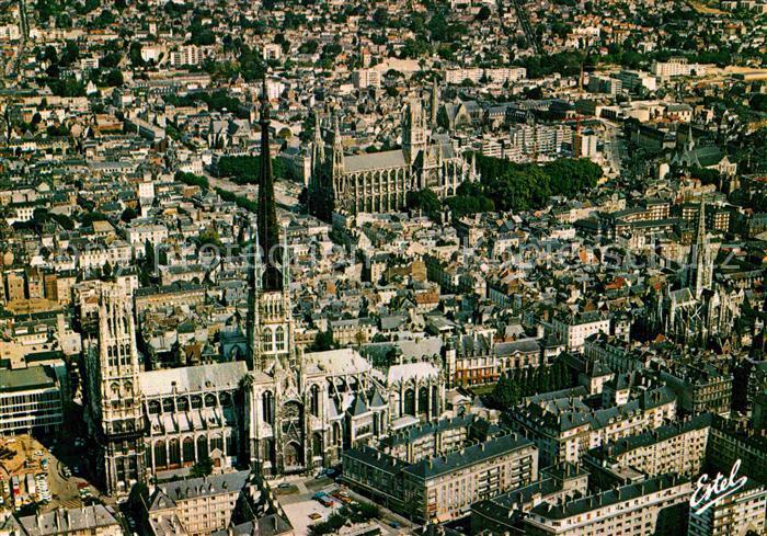AK / Ansichtskarte Rouen Vue aerienne Cathedrale Notre Dame Eglise Saint Ouen et Eglise Saint Maclou Kat. Rouen