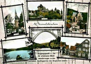 AK / Ansichtskarte Wermelskirchen Stadtkirche Altenberger Dom Remscheider Talsperre Markt Burg Kat. Wermelskirchen