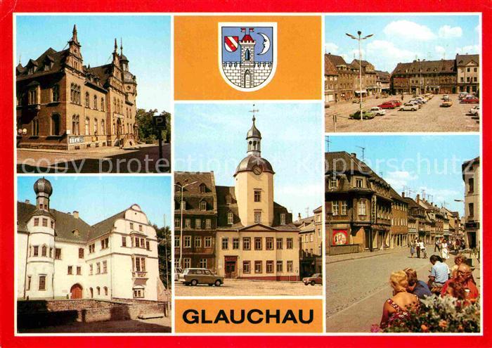 AK / Ansichtskarte Glauchau Post Schloss Forderglauchau Rathaus Markt Dr Friedrichs Str Kat. Glauchau