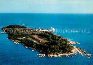 AK / Ansichtskarte Ile Saint Honorat Alpes Maritimes Abbaye de ND de Lerins Fliegeraufnahme