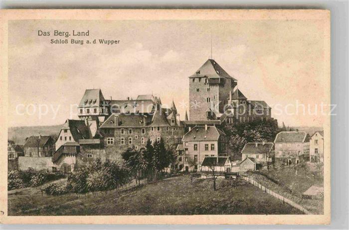 AK / Ansichtskarte Solingen Schloss Burg  Kat. Solingen