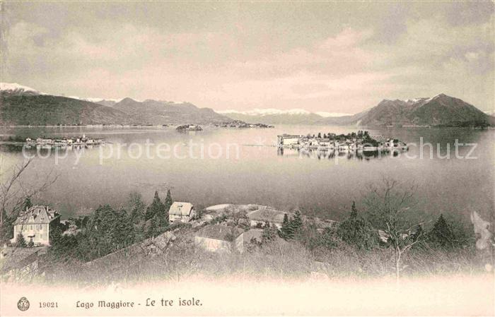 AK / Ansichtskarte Lago Maggiore Le tre isole Inseln Alpen Kat. Italien