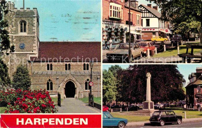 AK / Ansichtskarte Harpenden St Albans Parish Church High Street Church Green Kat. St Albans