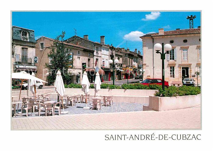 AK / Ansichtskarte Saint Andre de Cubzac En terrasse Place de l Hotel de Ville Rathausplatz Strassencafe Kat. Saint Andre de Cubzac