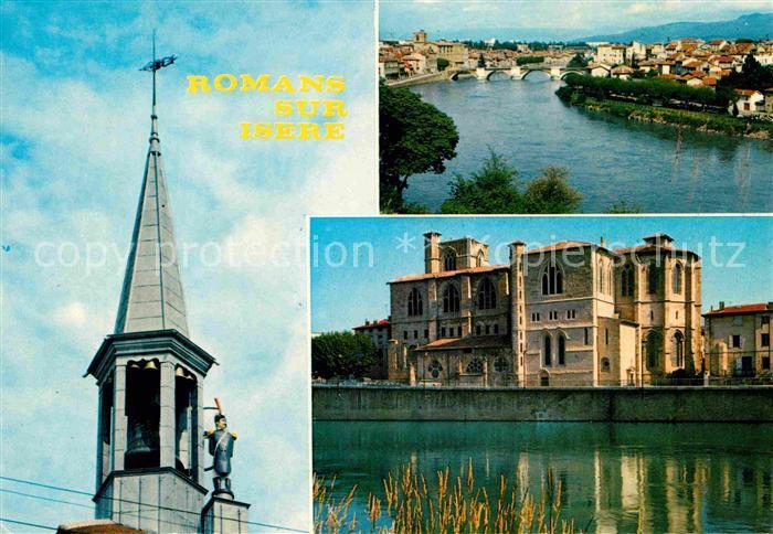 AK / Ansichtskarte Romans sur Isere Jacquemat Isere Collegiale Saint Barnard Kat. Romans sur Isere