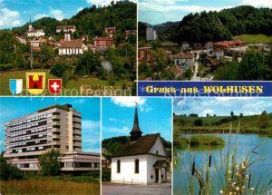 AK / Ansichtskarte Wolhusen mit Tuetensee Hotel Kapelle Kat. Wolhusen