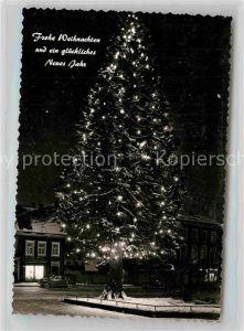 AK / Ansichtskarte Wermelskirchen Mammutkiefer Weihnachtsbeleuchtung Grusskarte Kat. Wermelskirchen
