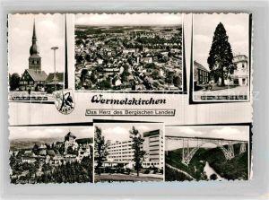 AK / Ansichtskarte Wermelskirchen Markt evangelische Kirche Mammutkiefer Schloss Burg Krankenhaus Kat. Wermelskirchen