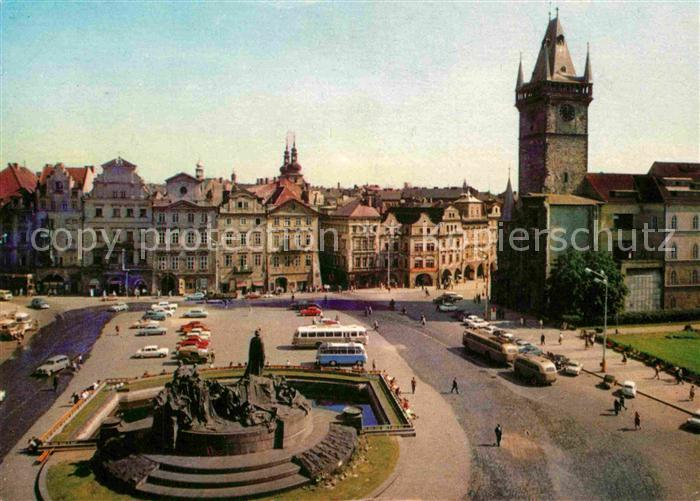AK / Ansichtskarte Praha Prahy Prague Staromestske namesti se Staromestskou radnici Altstaedter Ring mit Rathaus Kat. Praha