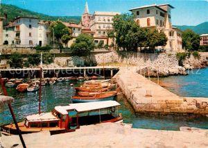 AK / Ansichtskarte Lovran Partie am Hafen Kat. Kroatien