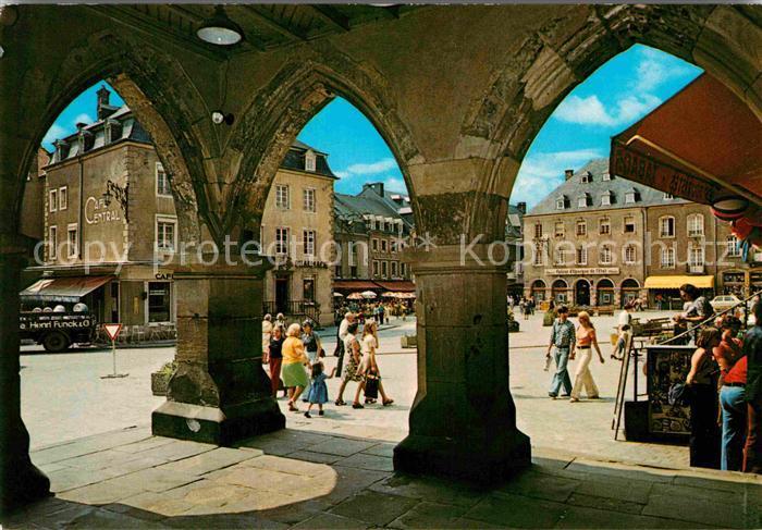 AK / Ansichtskarte Echternach Place du Marche a travers les Arcades du Denzelt 15 siecle Kat. Luxemburg