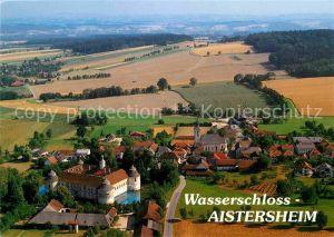 AK / Ansichtskarte Aistersheim Wasserschloss 16. Jhdt. Fliegeraufnahme Kat. Aistersheim