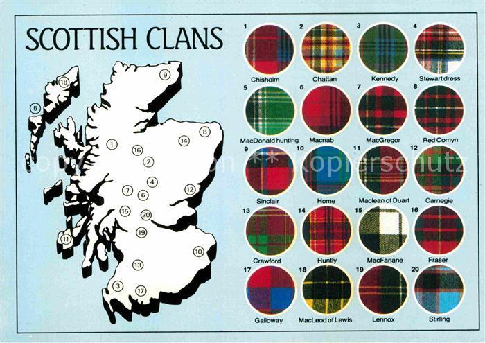 AK / Ansichtskarte Schottland Scottish Clans Kat. Regionales Nr ...
