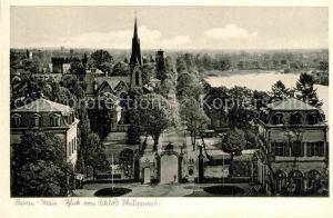 AK / Ansichtskarte Hanau Main Blick vom Schloss Philippsruhe Kat. Hanau