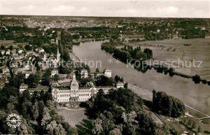 AK / Ansichtskarte Hanau Main Fliegeraufnahme mit Schloss Philippsruhe Kat. Hanau