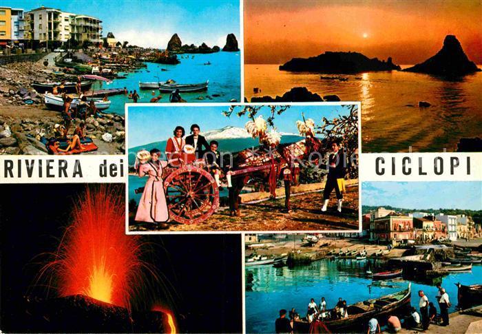 AK / Ansichtskarte Catania Bucht aetna Hafen Panorama  Kat. Catania