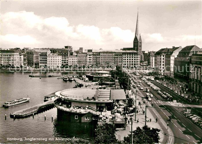 AK / Ansichtskarte Hamburg Jungfernstieg Alsterpavillon Kat. Hamburg