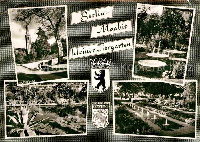 AK / Ansichtskarte Moabit Berlin Rollerbahn Teich Brunnen kleiner Tiergarten Kat. Berlin