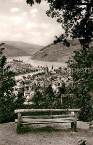 AK / Ansichtskarte Bingen Rhein Panorama mit Blick auf Ruine Ehrenfels und Maeuseturm Kat. Bingen am Rhein
