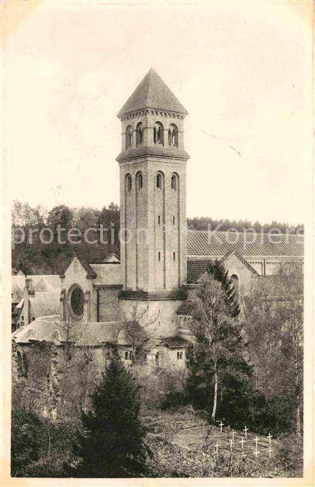 AK / Ansichtskarte Orval Liege Abbaye Notre Dame Clocher de la Basilique Cimetiere des Molnes Kat.