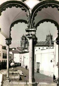 AK / Ansichtskarte Evora Portas de Moura e Catedral Kat. Evora