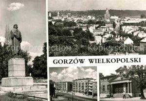 AK / Ansichtskarte Gorzow Wielkopolski Pomnik Adama Mickiewicza Ulica gen. W. Sikorskiego Teatr Denkmal Theater Kat. Gorzow Wielkopolski