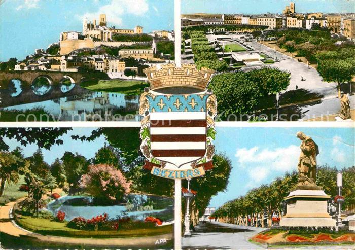 AK / Ansichtskarte Beziers Pont et Cathedrale St Nazaire Place de la Citadelle Kat. Beziers