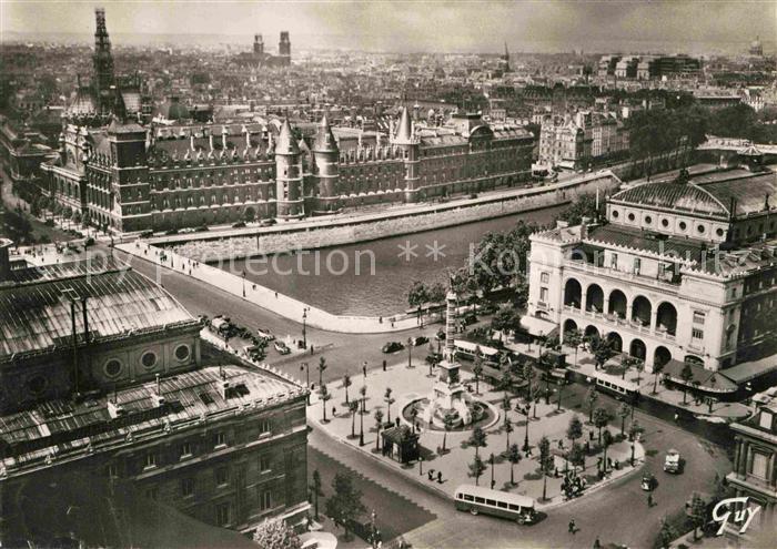 AK / Ansichtskarte Paris Panorama Vers la Place du Chatelet et la Conciergerie Kat. Paris