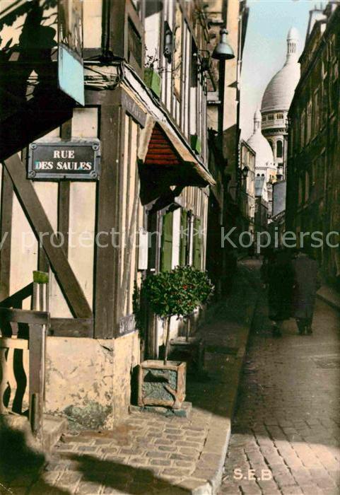AK / Ansichtskarte Montmartre Paris Angle de la Rue des Saules et Rue Sainte Rustique Kat. Paris